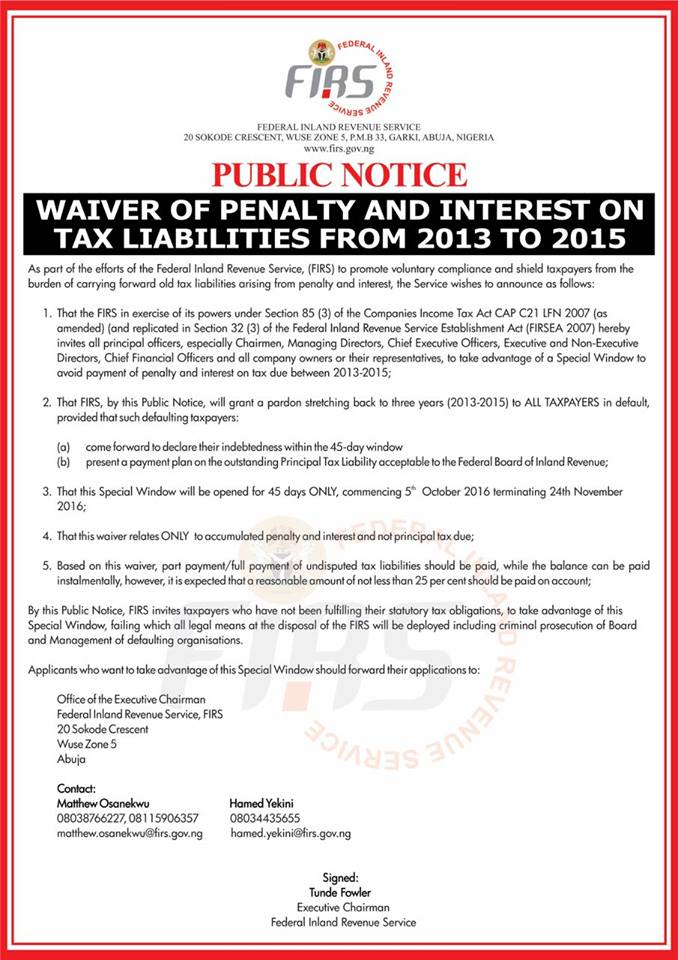 Notice_Tax Amnesty_Oct 2016