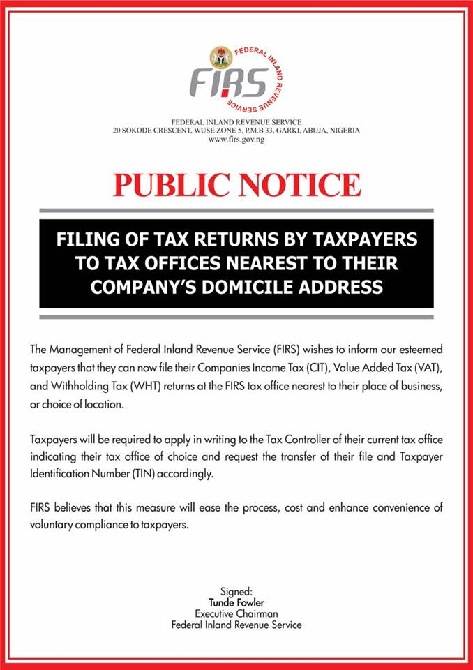 Notice_Filing of returns at nearest tax office_Oct 2016