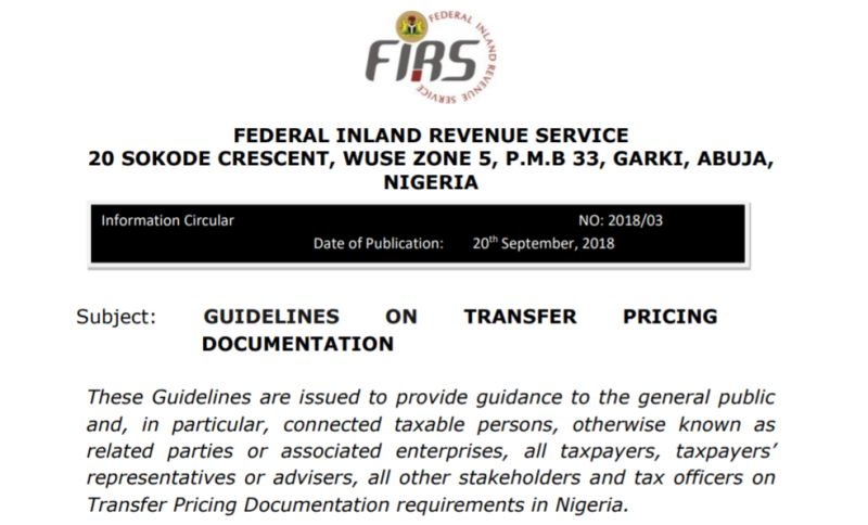 FIRS TP Guideline