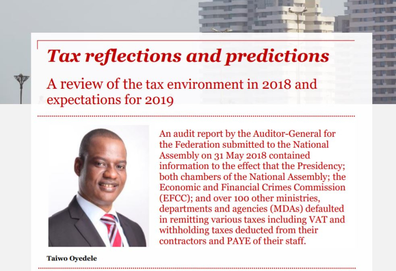 Tax reflections