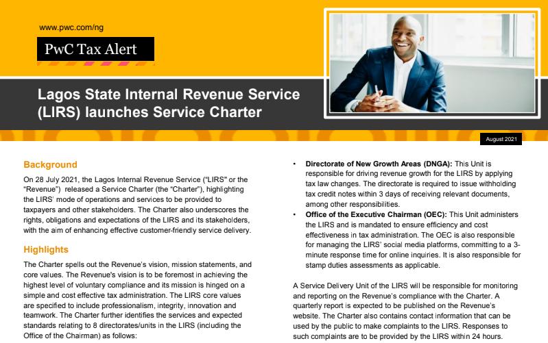 Lirs service charter